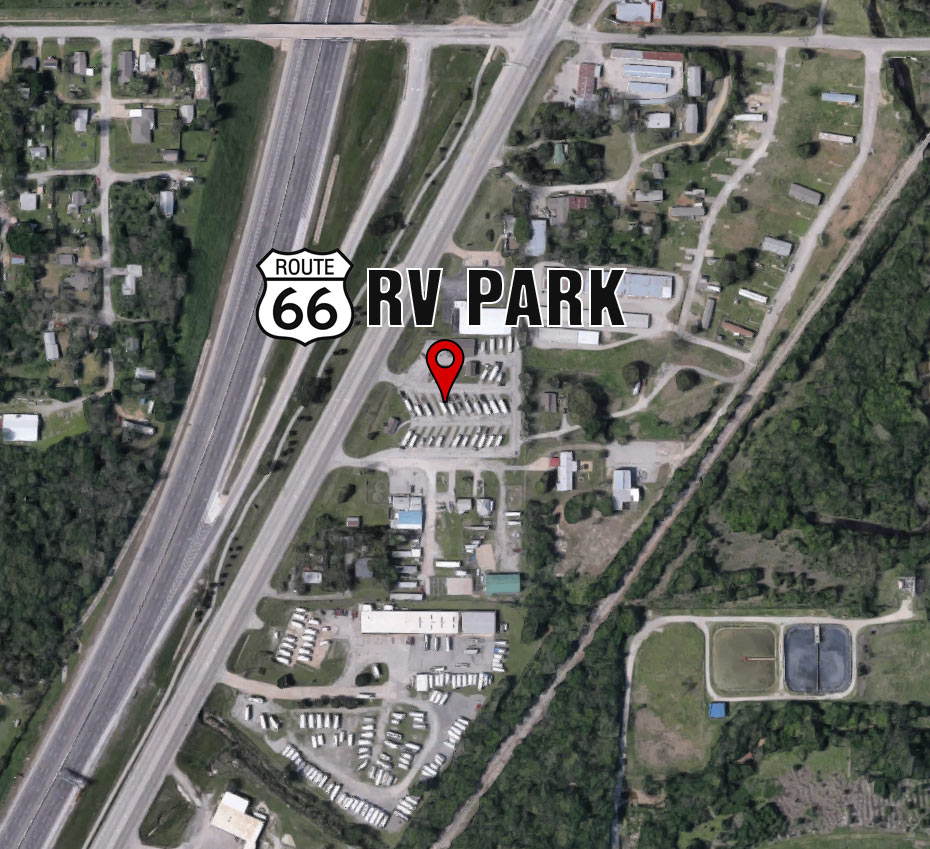 Google Map with directions to Route 66 RV Park